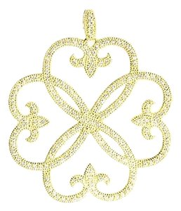 Jude Frances JUDE FRANCE 18K YELLOW DIAMOND LARGE FLOWER PENDANT