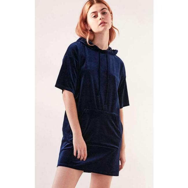 Urban Outfitters short dress Navy T-shirt Velvet Hooded on Tradesy Image 1