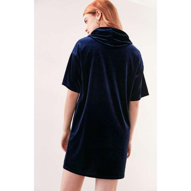 Urban Outfitters short dress Navy T-shirt Velvet Hooded on Tradesy Image 4