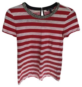 Juicy Couture T Shirt White and Red
