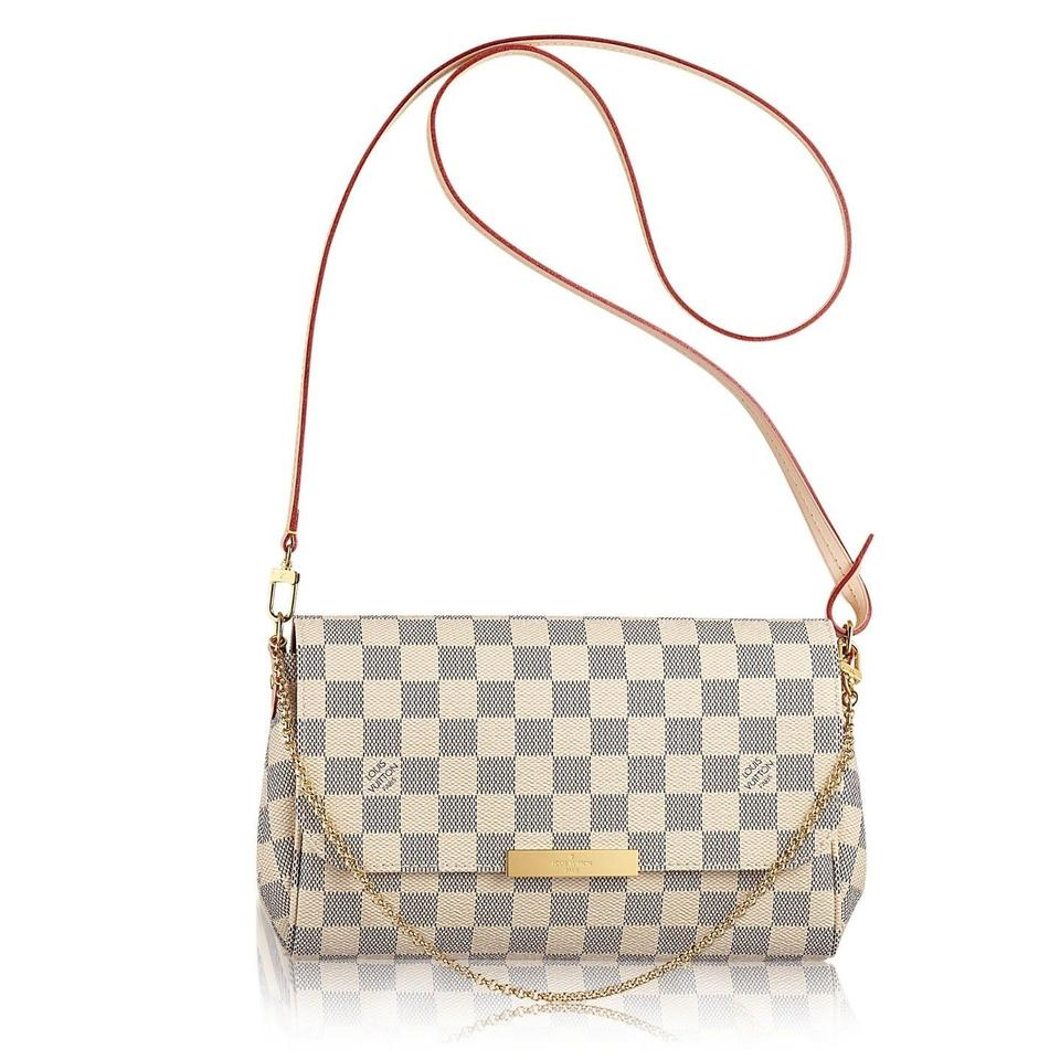 8edfc763c7f99 Louis Vuitton Favorite Mm Damier Azur Canvas Cross Body Bag - Tradesy