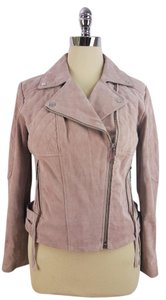BCBGeneration Blush Suede Motorcycle Leather Pink Jacket