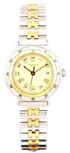 Hermès Captain Nemo Gold Stainless Steel Two-Tone Watch w/ Gift Box