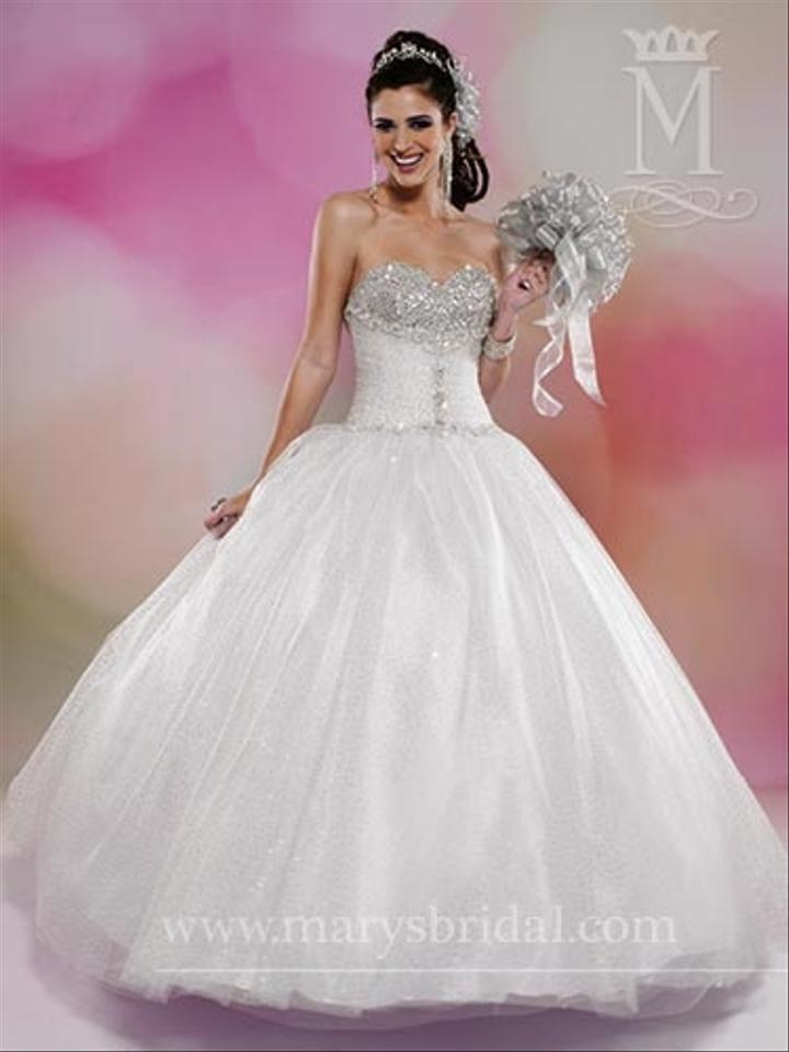 Mary\'s Bridal White / Platinum Sparkling Tulle Beloving 4068 ...