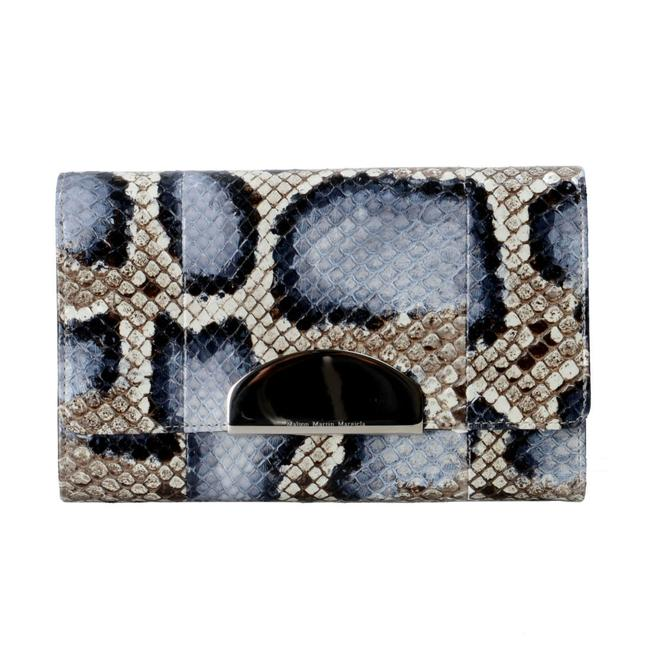 "Item - ""1"" Women's Wallet Blue / Tan Python Skin/ Leather Clutch"