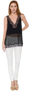 Esley Camisole Lace Lace Trim Top Black