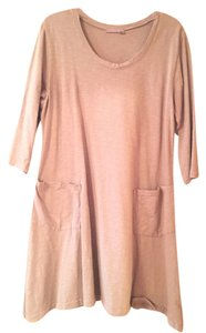 Fresh Produce short dress taupe on Tradesy
