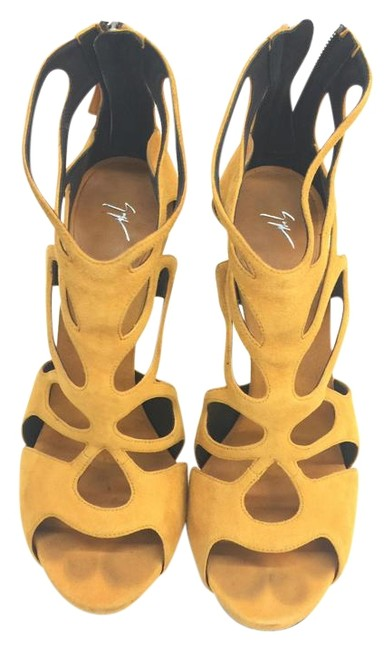 Item - Mustard Suede Caged Sandals Size EU 41 (Approx. US 11) Regular (M, B)