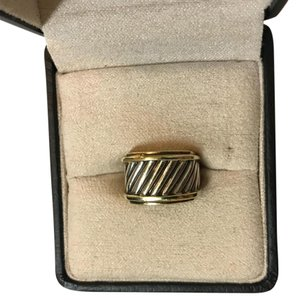 David Yurman Silver, Gold Signature Ring