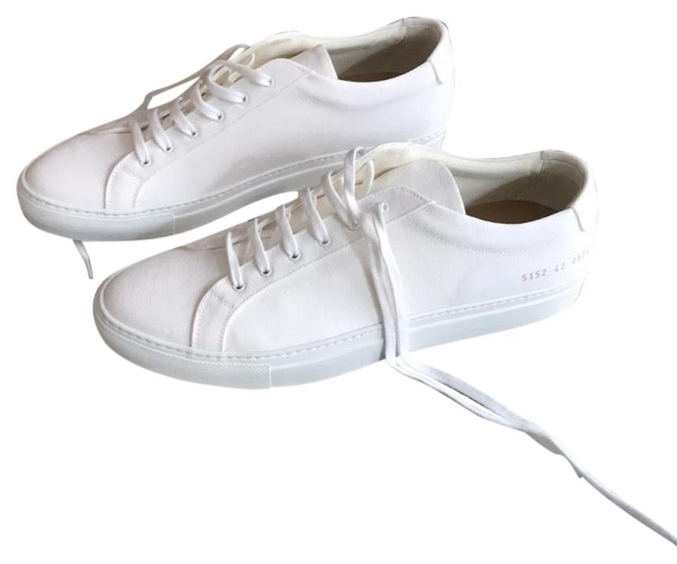 86af3fbce8b8 Common Projects White Achilles Low In Canvas Sneakers Size US 10 ...