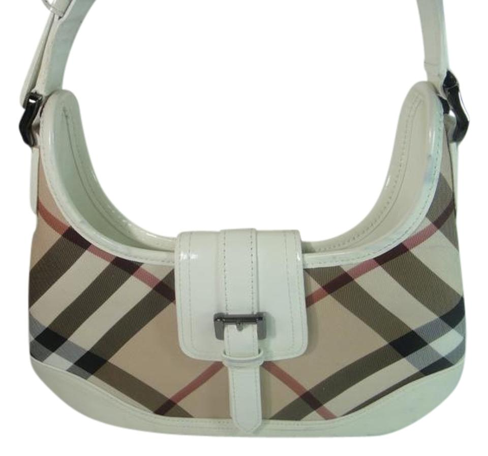 925ac7ac990b Burberry Supernova Check Beige White Pvc Leather Hobo Bag - Tradesy