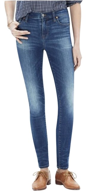 """Item - Dayton Wash Distressed 9"""" High Rise In Tall Skinny Jeans Size 24 (0, XS)"""
