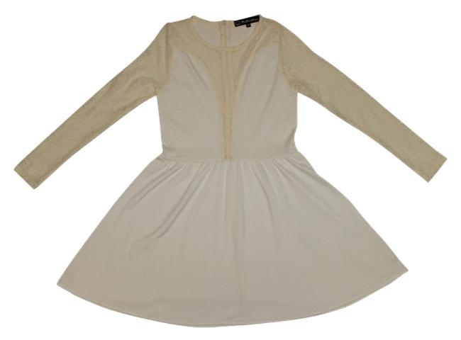 Preload https://item5.tradesy.com/images/for-love-and-lemons-ivory-lulu-casablanca-mini-above-knee-short-casual-dress-size-12-l-2225774-0-0.jpg?width=400&height=650