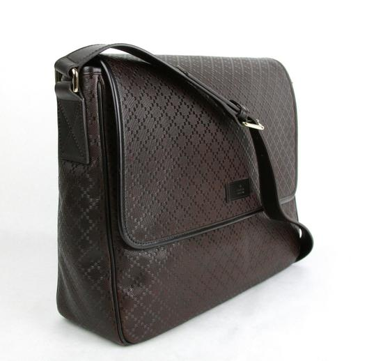 Gucci Hilary Lux Diamante Leather Dark Brown Messenger Bag Image 1