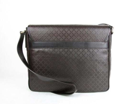 Gucci Hilary Lux Diamante Leather Dark Brown Messenger Bag Image 2