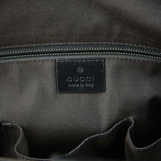 Gucci Hilary Lux Diamante Leather Dark Brown Messenger Bag Image 7