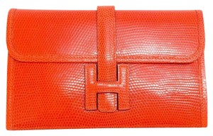 Hermès Mini Jige Orange Lizard