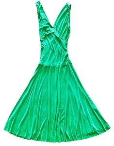Boutique Green Casual Date Dress