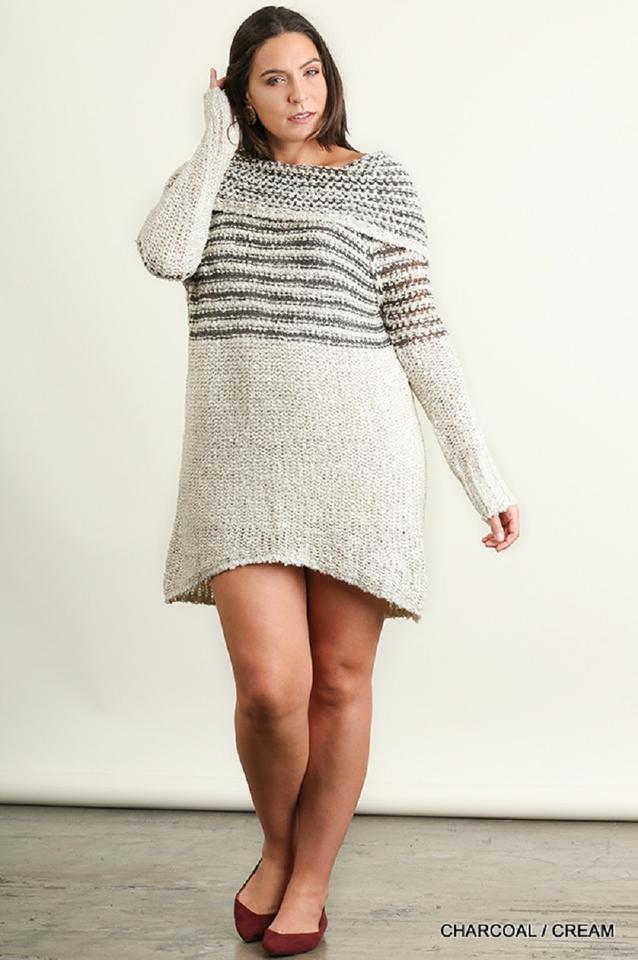 3ff620b47f4 Umgee short dress Gray Off Shoulder Sweater Plus-size on Tradesy Image 4.  12345
