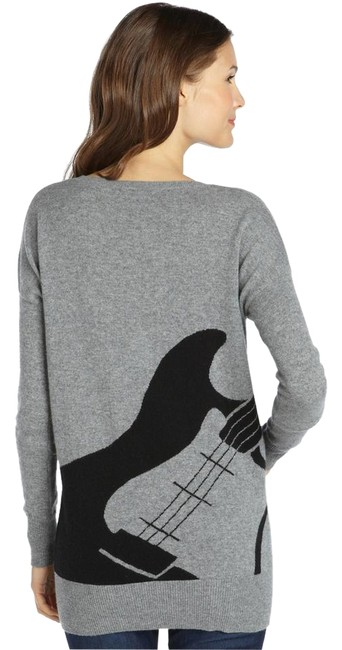 Item - And Black Electric Guitar Intarsia Grey Sweater
