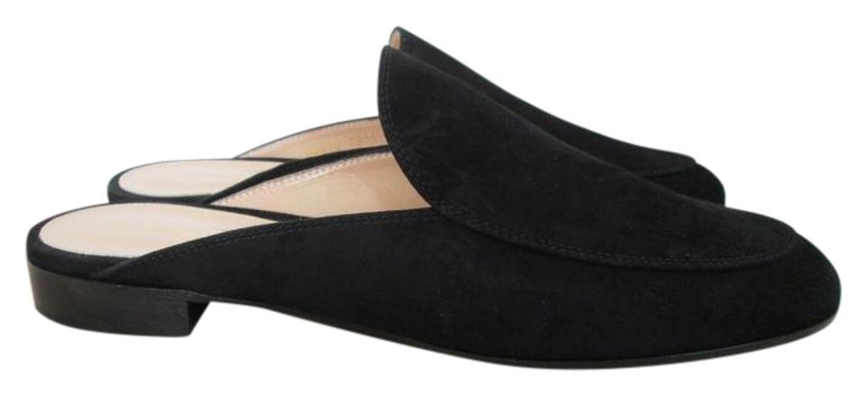 Gianvito Rossi Black Palau Suede Mules/Slides Loafers Flats Mules/Slides Suede f51eec