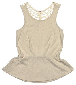 Free People Tank Racerback Top Ivory