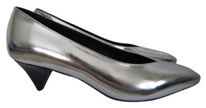 Isabel Marant Leather Pointed Toe Silver Pumps
