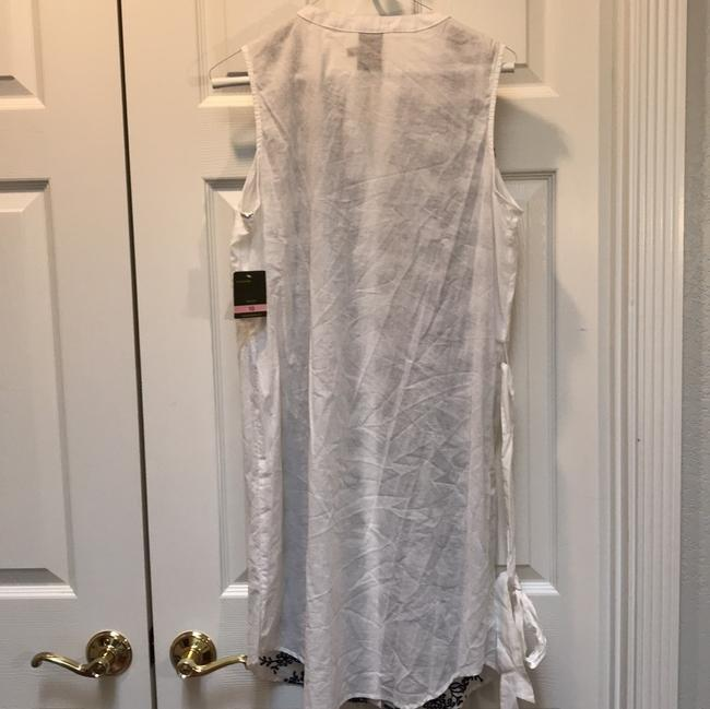 Taylor short dress white Cotton Embroidered Sleeveless Belted Button Down on Tradesy Image 2