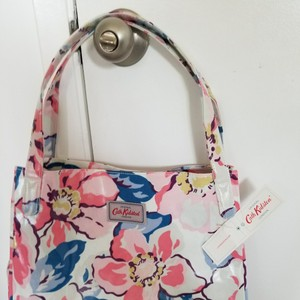 Cath Kidston Tote in Off white with pink, blue, brown and yellow floral design