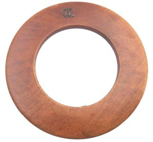 Chanel Chanel Vintage Wood Bangle Bracelet