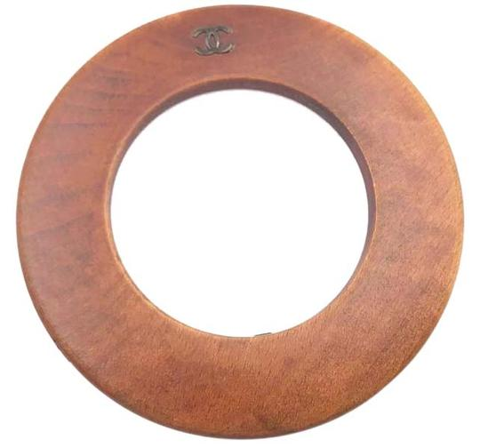 Chanel Chanel Vintage Wood Bangle Bracelet Image 0