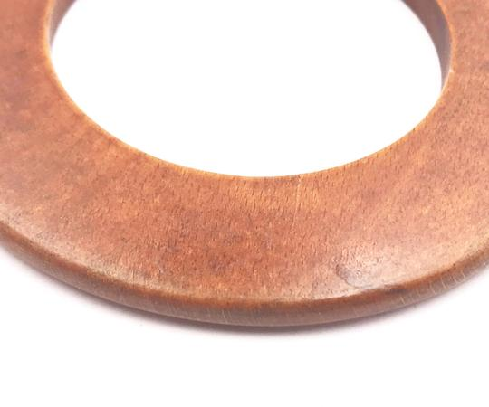 Chanel Chanel Vintage Wood Bangle Bracelet Image 5