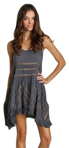 Free People short dress black, gray on Tradesy