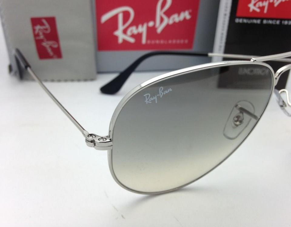 7bb2e83060df2 Ray-Ban Rb 3025 Large Metal 003 32 58-14 Silver Aviator W  Grey New 003 32 W  Grey Sunglasses - Tradesy