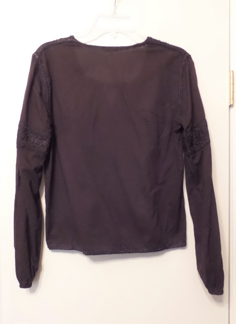 Jill Stuart Embroidered Oversized Loose Fit Cotton Top Brown Image 9