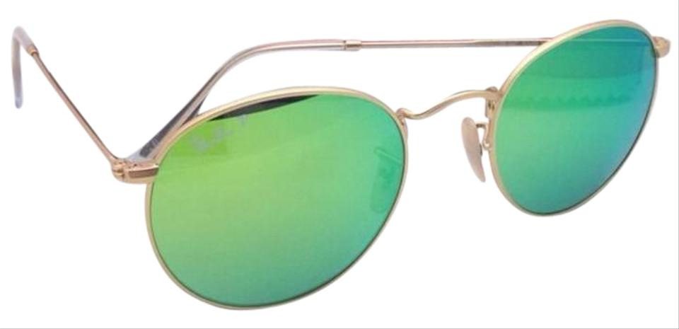 a8c2190771 Ray-Ban Polarized Ray-Ban Sunglasses ROUND METAL RB 3447 112 P9 Gold ...
