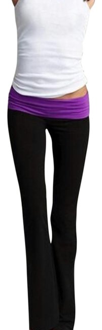 Item - Black and Purple Yoga Activewear Bottoms Size 0 (XS)