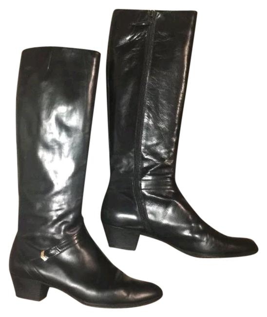 Item - Black Knee High Leather Rare 38.5 Boots/Booties Size US 8.5 Narrow (Aa, N)