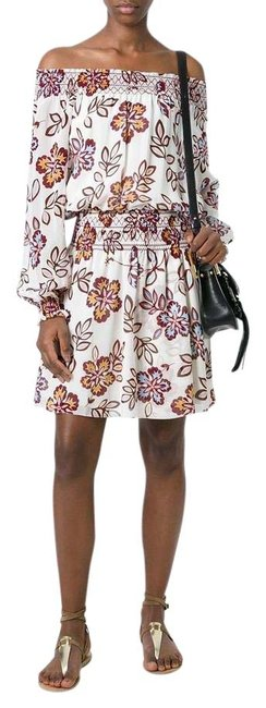 Casual Indie Mens Fashion Outfits Style 8: Tory Burch New Ivory Hopewell 36753 Indie Silk Short