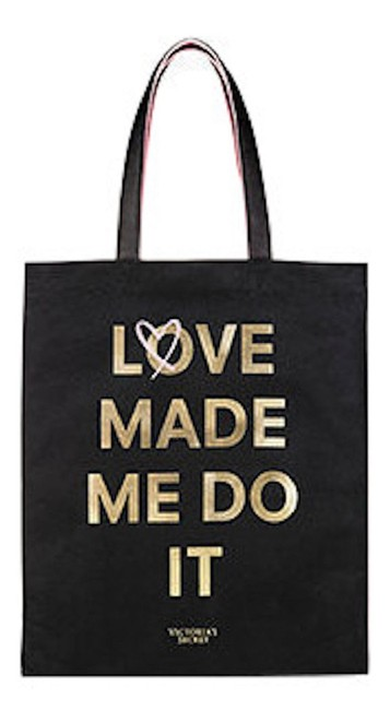 Item - Love Made Me Do It Limited Edition Black Pink Canvas Tote