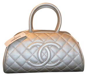 chanel Caviar Quilted Classic Satchel in gold