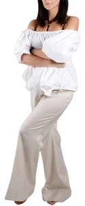 Stella McCartney Casual Wide Leg Pants Ivory White
