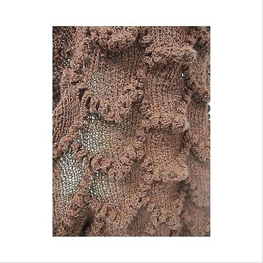 Other Unbranded Rust Knit Ruffle Fashion Scarf