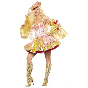 Be Wicked Halloween Sexy Costume Bow Theatre Top pink, gold