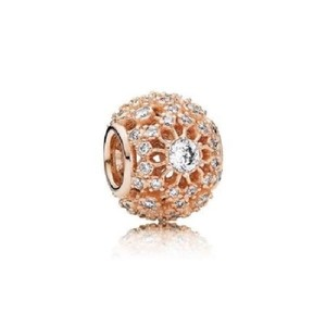 PANDORA Inner Radiance Rose and Clear CZ Charm