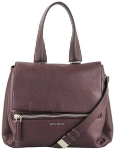 Givenchy Leather Satchel in Burgundy