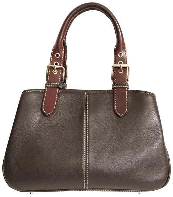 Item - Brown Silver Leather Satchel