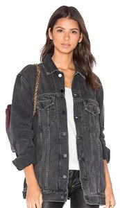 Alexander Wang Gray Aged Womens Jean Jacket
