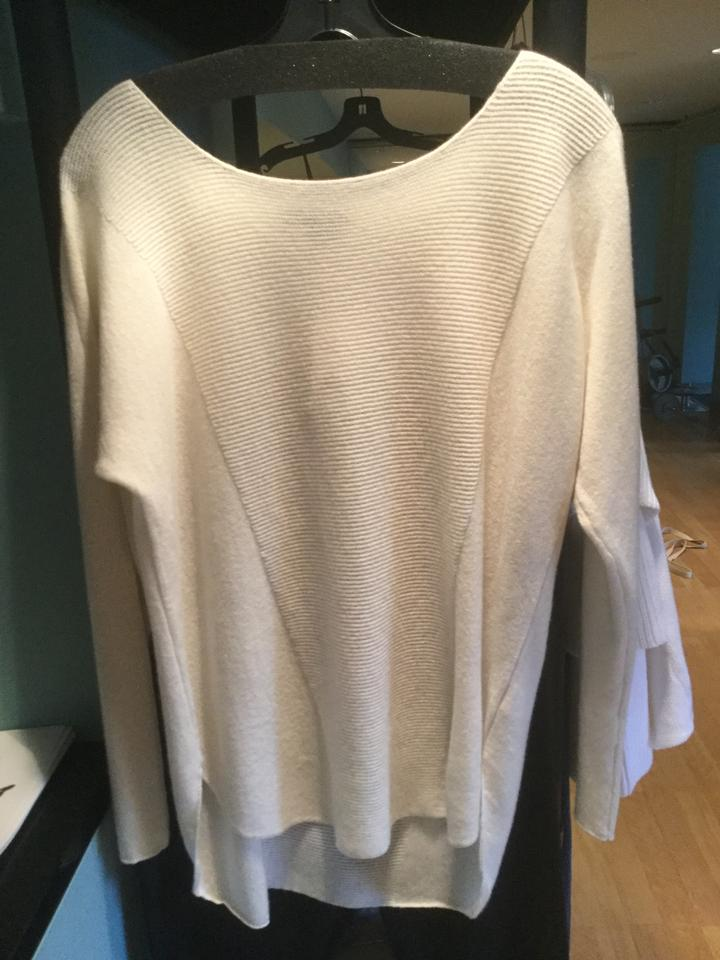 vince off white sweater pullover size 8 m tradesy. Black Bedroom Furniture Sets. Home Design Ideas