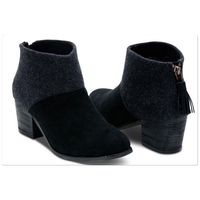 Item - Black/Gray Lacy Boots/Booties Size US 5.5 Regular (M, B)